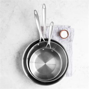 American Kitchen Cookware's 3 piece Stainless Steel Skillet Cookware Set Made in USA