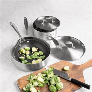 American Kitchen Cookware's 5 piece Stainless Steel Cookware Set Made in USA
