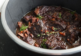 Stovetop Wine Braised Short Ribs