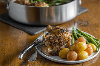 Herb Crusted Chicken One Pan Dinner