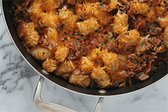 Tater Tot Bacon Breakfast Casserole