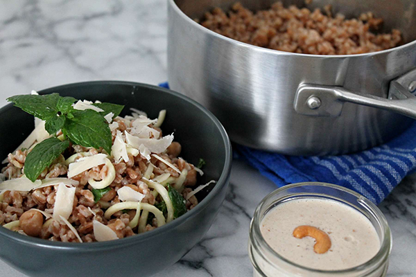 Whole Grain Salad with Creamy Cashew Dressing