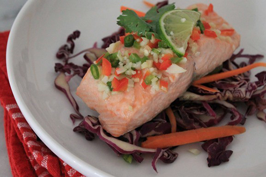 Steamed Asian Salmon