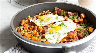 Savory Bacon and Sweet Potato Hash