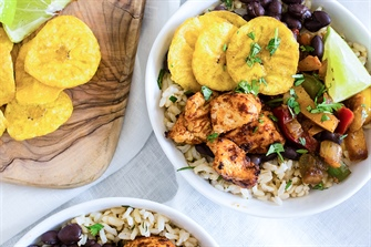 Cuban Chicken and Rice Bowls