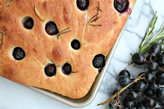 Roasted Grape & Rosemary Focaccia