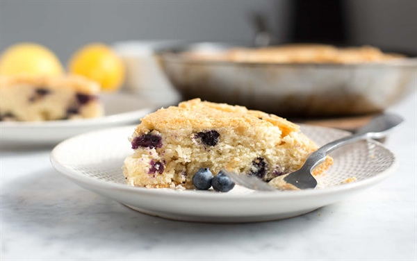 Gluten Free Lemon Blueberry Pound Cake