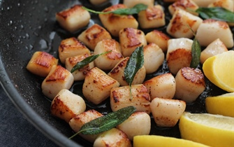 Seared Scallops and Brown Buttered Sweet Potatoes